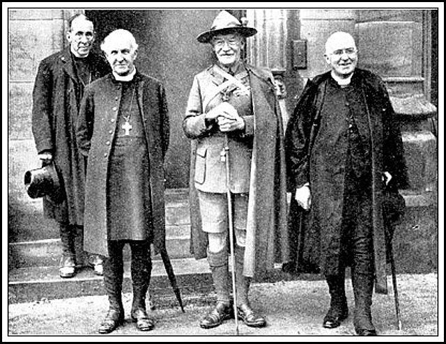 The Archbishop of Canterbury, Lord Baden-Powell, and Cardinal Bourne of Westminster
